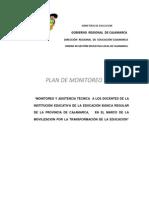 Plan de Monitoreo Docente 2014