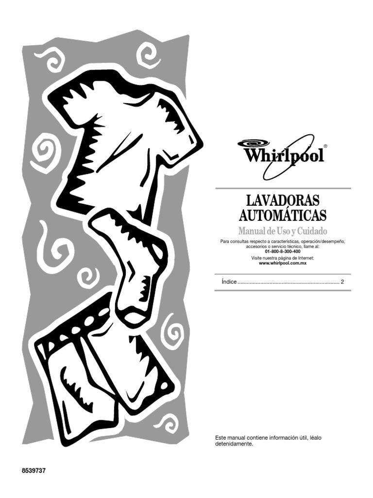 Manual De Espanol De Una Lavadora Whirlpool
