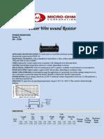 Power Wire wound Resistor