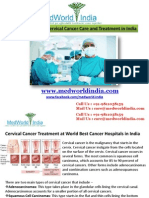 Most Advanced Cervical Cancer Care and Treatment in India