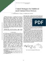 Direct Power Control Strategies for Multilevel Inverter Based Custom Power Devices