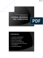 2nd Semester 2012-2013 - 2nd and 3rd Lecture - Journal Bearings and Lubrication