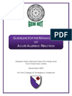 CEM5072 GEMNet Guideline for the Management of Acute Allergic Reaction Dec 2009