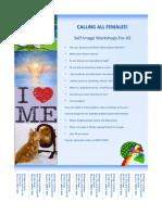 Flyer - Self Image Workshops