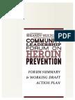Community Leadership Forum on Heroin Prevention