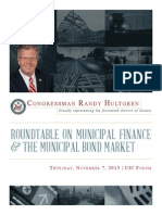 Roundtable on Municipal Finance and the Municipal Bond Market