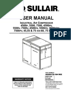 02250176-184r02 Sullair User Manual | Valve | Gas Compressor on