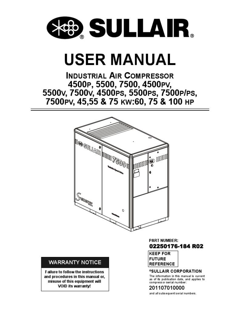 Sullair 185 Wiring Diagram Change Your Idea With Kohler Manual 02250176 184r02 User Valve Gas Compressor Rh Es Scribd Com Carrier Diagrams Pioneer