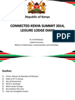 Day 1-Dr Fred Matiangi-CS Ministry of Information Communication and Technology-Launch of the National ICT Masterplan-Setting the ICT Development Agenda for the Next Five Years-ConnectedKenya 2014