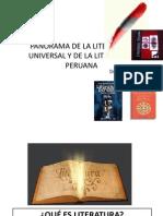 Panorama de La Literatura Universal y de La Literatura Peruana