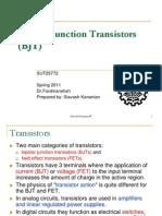 Chapter 1-Bipolar Junction Transistor (BJT)