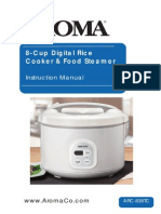 ARC 838TC InstructionManual Rice Cooker Aroma