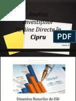 Analiza Investițiilor Străine Directe în Cipru Sorocovici Cristina