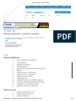Manual de Proceduri - Petromar Constanta