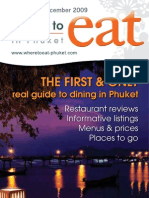 Where to Eat Phuket November - December 2009