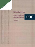 Fähnrich, Grammatik der altgeorgischen Sprache