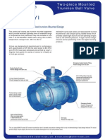 Two-Piece Mounted Trunnion Ball Valve
