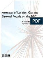 Portrayal of LGB People on the BBC - Consultation Report