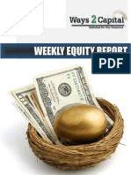 Equity Weekly Report by Ways2Capital 15 April 2014