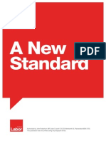 A New Standard - Labor Policy Document