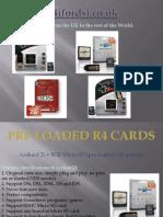 Pre-Loaded R4 Cards - R4i Fordsi