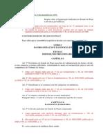 LEI Nº 3.716- organização judiciaria