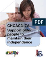 CHCAC317A Support Older People to Maintain Their Independence