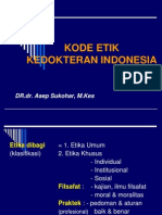 KODE ETIK Dokter Indonesia