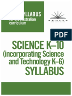 new syllabus k10 science
