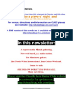 Cheadle Jazz Guitar Club Newsletter Mar 2014