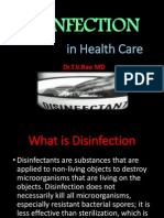 DISINFECTION  in Health Care