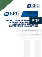 EPG Social Entrepreneurship in Pakistan Unlocking Innovation December 20121