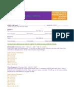 Chess Registration Form Fall 2013