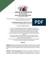 Resolución 020 de 2009 - Congelamiento de Prestamos