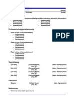 functional resume 2