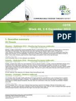 Communicable Disease Threats Report 7 Dec 2012