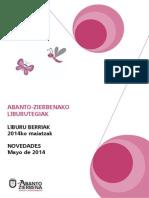 Apirileko eta maiatzeko liburu berriak // Novedades de abril y mayo