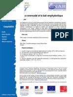 Le Commodat Et Le Bail Emphyteotique