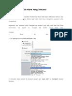 Cara Mengedit File Word Yang Terkunci