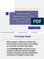 Open Economy Macroeconomics the Balance of Payments and Exchange Rates