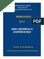 Origen y Caracteristicas Depositos de Suelos H