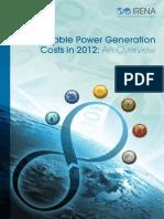 Renewable Power Generation Costs 2012--IRENA