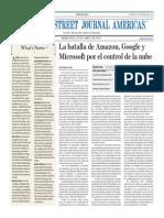 La Batalla de Amazon, Google y Microsoft Por El Control de La Nube