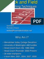Track Technique-Track and Field Techniques