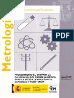 EL-002 Procedimiento Para La Calibracion Del Puente Numerico Para La Medida de I C y R