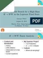 H to WW Razor Analysis