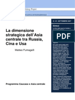 La dimensione strategica dell'Asia centrale tra Russia, Cina e Usa -di M. Fumagalli
