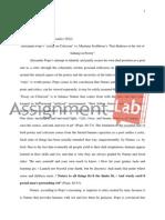 "Alexander Pope's ""Essay on Criticism"" vs. Martinus Scriblerus's ""Peri Bathous or the Art of"