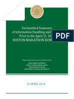 Unclassified Summary pf Information Handling and Sharing