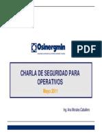 Charla SeguridadparaOperativos Mayo11